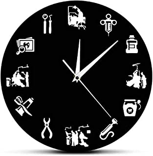 llsmting Wall Clocks for Living Room Dental Tooth Hygienist Modern Dental Clinic Decor Endodontist Stomatology Design Hygienist Clock Watch Dentists Gift Beautiful