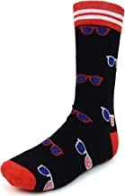 Men's Fun Crew Socks, Sock Size 10-13/Shoe Size 6-12.5, Awesome NEW Styles, Great Holiday/Birthday Gift