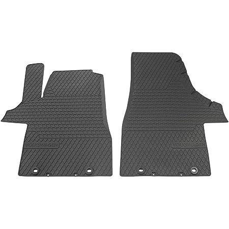 Volkswagen 7h106150282v 7h1061502 Fußmatten 82v Fußmatten 2x Gummimatten Allwettermatten Schwarz Schriftzug Drehknebel Befestigung Auto