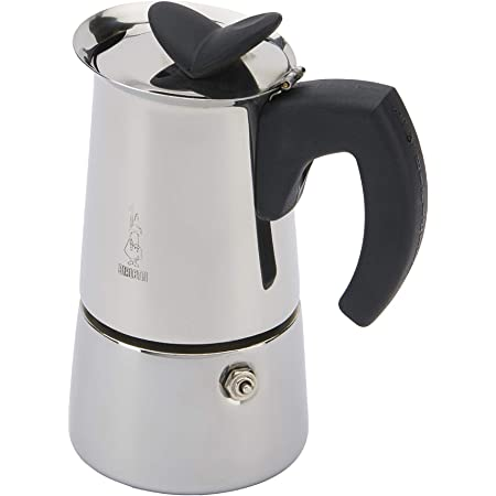 Bialetti Musa Nuova 4 Cups Espresso Maker, Stainless Steel