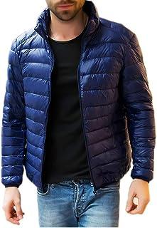 HANAKU ダウンジャケット メンズ 軽量 防風 防寒 暖かい ウルトラライト ダウン コート コンパクト収納 19YR01(4#,2XL)