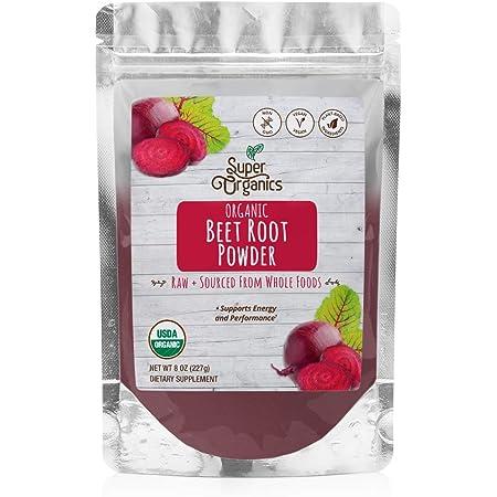Super Organics Beet Root Powder | Supports Energy & Performance – Organic, Vegan & Non-GMO, 8 Oz