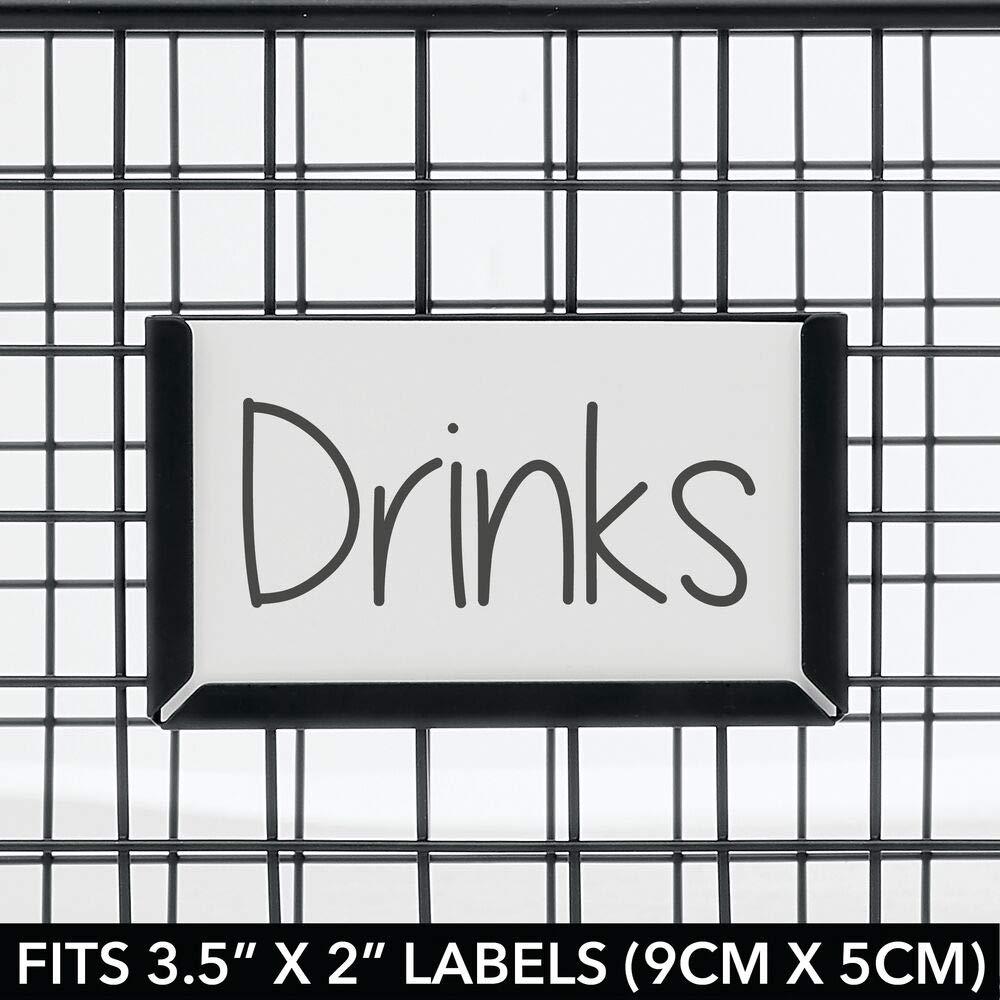 negro Organizador de cocina ba/ño y m/ás despensa Cesta de almacenaje de alambre compacta y universal mDesign Caja multiusos de metal de 40,6 cm x 30,5 cm x 15,2 cm