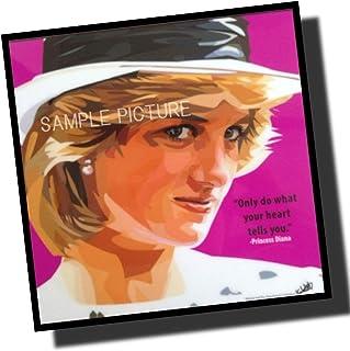 ダイアナ妃 プリンセス・オブ・ウェールズ 海外グラフィックアートパネル 木製 ポスター インテリアに