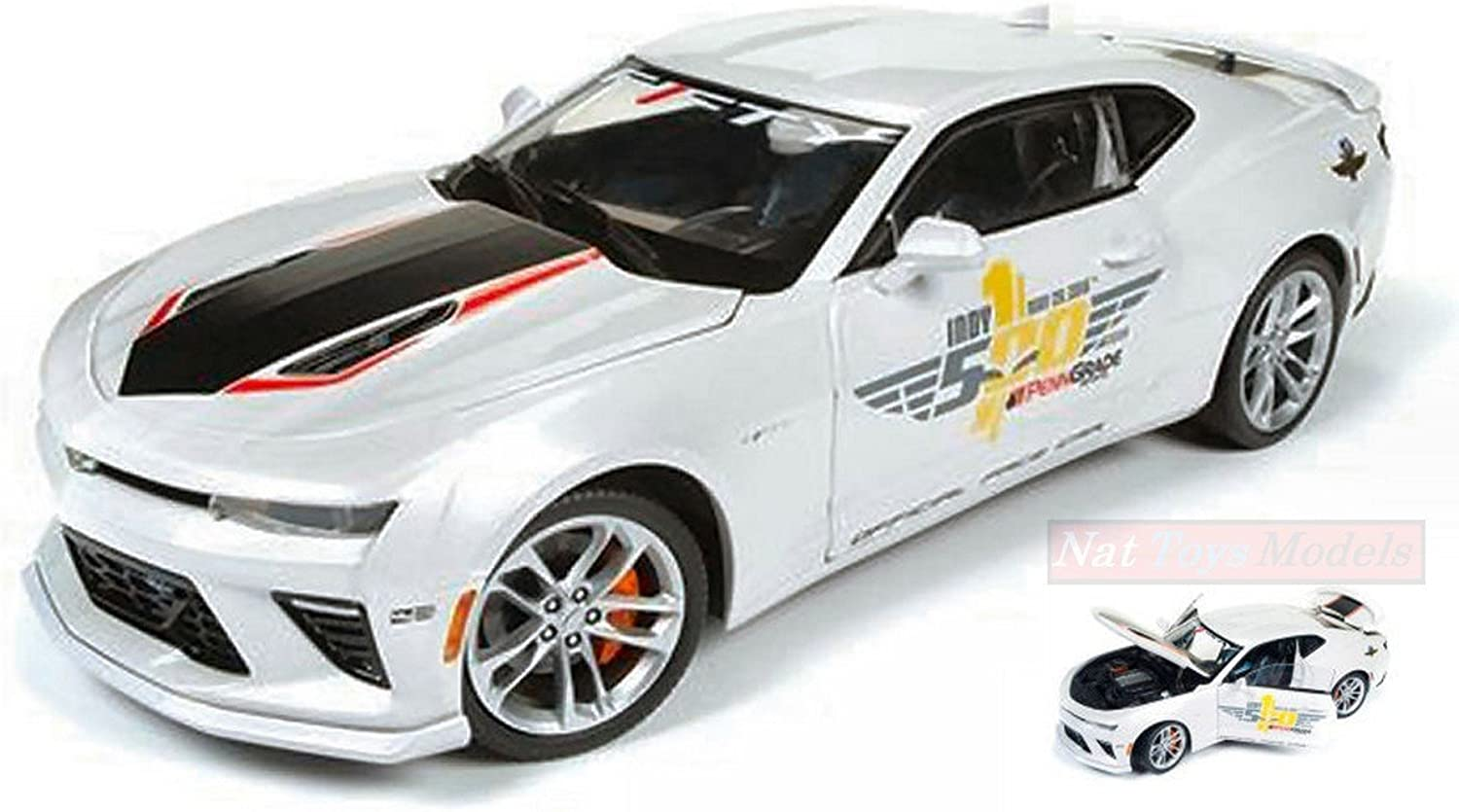 AUTO WORLD AW236 CHEVY CAMARO INDY PACE CAR 2017 40th ANNIVERSARY 1 18 DIE CAST
