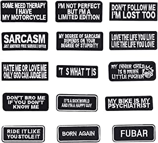 Butie.15pcs Assorted Iron on Word Patches for