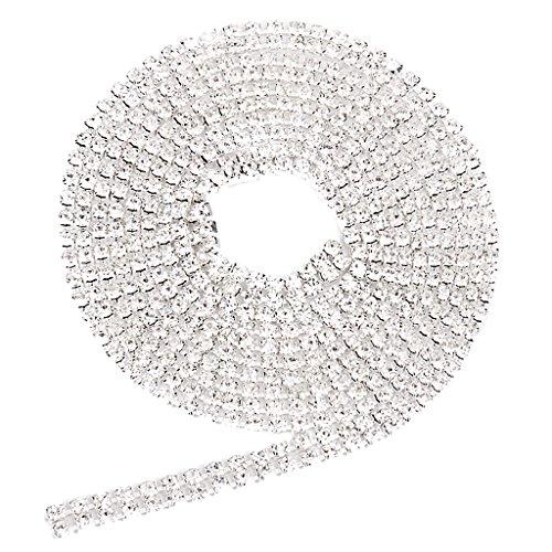 91cm Chaîne en Strass 2-Rangs Ornement pour Couture Artisanat - Couleur d'Argent