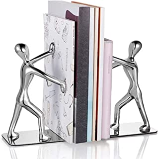 حامل كتب معدني للكتب ، من الفولاذ المقاوم للصدأ دفاتر الكونغ فو مان غير قابلة للانزلاق لتزيين المنزل والمكتبة والمدرسة