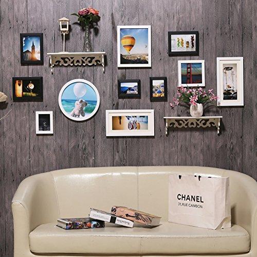 Foto aan de muur foto muur ingebouwde plank combinatie foto aan de muur in de woonkamer DassZuiver wit11.Combobox met geïntegreerde plank gesneden