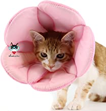 AnnaEye Pet Recovery Pet Cone E-Collar Cats Small Dogs - Comfortabe Flower Pattern Elizabethan Collar