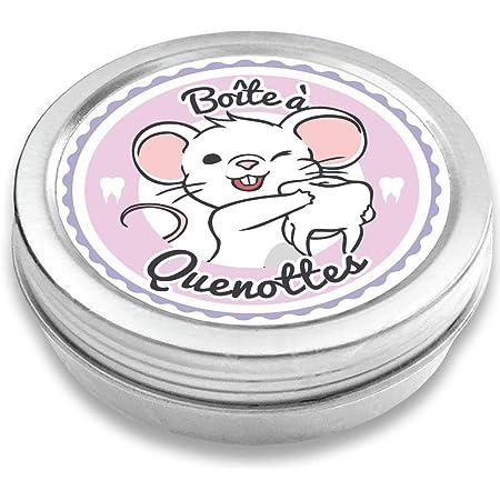 FANS & Friends Boîte à dents de lait pour garçons et filles, avec e-book gratuit, Coffret de rangement pour dents, Cadeau pour écolier, Petite Souris (rose)