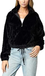 Juicy Couture Black Label Women's Faux Fur Half Zip Pullover Jacket