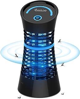 Osaloe Lámpara Antimosquitos Portátil, Asesino del Mosquitos y Insectos, Lámpara LED Iluminación Lámpara de Mosquitos Eléctrica para Casa, Cocina, Oficina, Dormitorio, Interior (Negro)