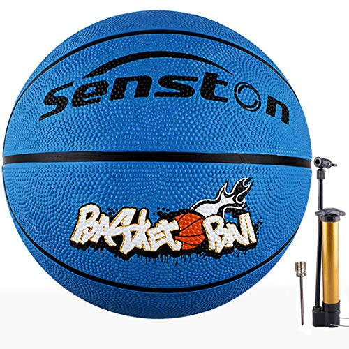 Senston 27.5' Kids Junior Basketball Balls Youth Size 5 Basketballs 27 inch Boys Game Ball Blue Color