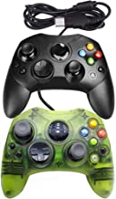 Mekela Classic wired Controller Gamepad for Xbox S-Type (Black Clear Green)