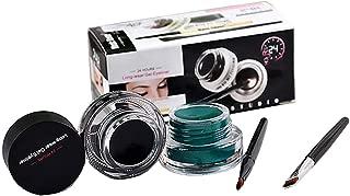 Fatetec Waterproof delineador de Ojos en Gel Eyeliner,2 en 1 Kit de cosméticos diseño (Set2)