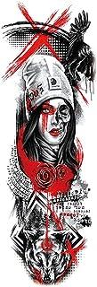Qqinghan Waterdichte Tijdelijke Tattoo Sticker Totem Geometrische Volledige Arm Grote Mouwen Tatoo Fake Tatto Flash Tatoea...