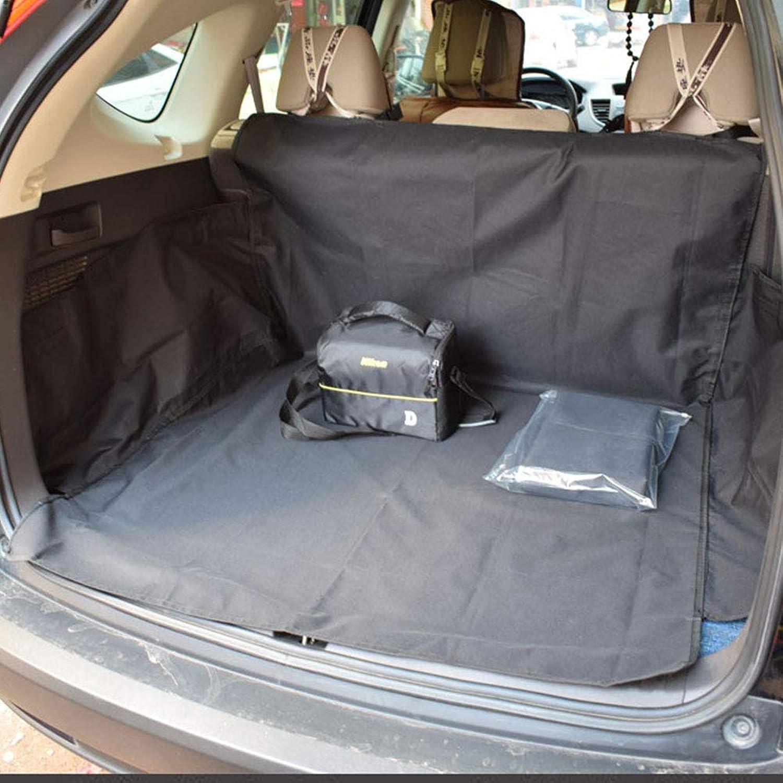 HAOJINFENG Dog Car Mat Waterproof and Dry Comfortable Oxford Car Trunk Dog Car Mat Black