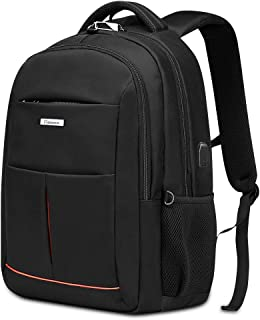 Anti-Theft Laptop Backpack for Men Women, Modoker College School Bookbag Business Travel Backpacks, Large Capacity Water Resistant Computer Bag with USB Charging Port Fits 15.6 inch Laptop Black…