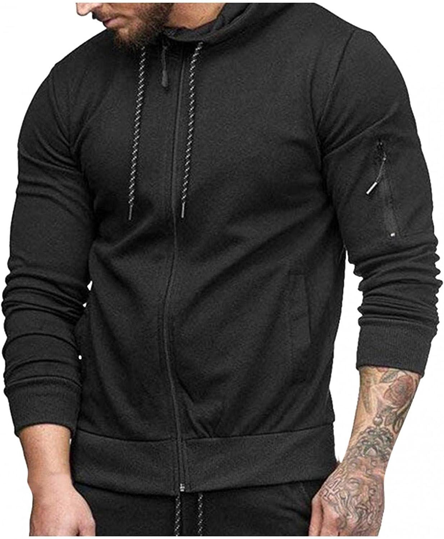Hoodies for Men Slim Casual Cardigan Tops Mens Zip Up Hoodies Long Sleeve Drawstring Sports Fashion Hoodies and Sweatshirts