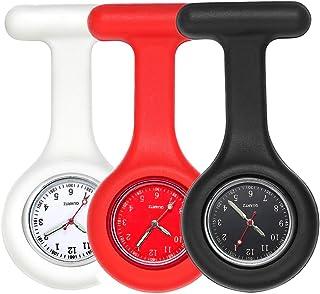 LYMFHCH Nurse Watch, Nurse Fob Watch, Nursing Watch, Clip Watch,Lapel Watch, Nurse Fob Watch with Second Hand, Clip on Nursing Watch