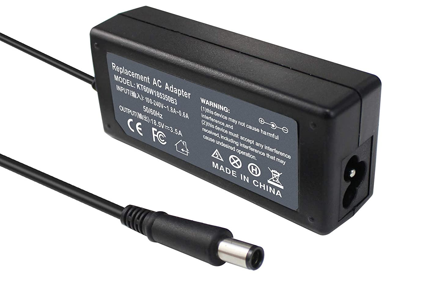 BE·SELL 18.5V 3.5A AC Laptop Adapter Charger for HP Pavilion G6 G7 G4 DV4 DV5 DM4 DM4-1173CM4 M6; HP 2000-2A20NR 2000-2B09WM 2000-2B19WM 2000-2B29WM 693711-001 677774-001 Power Supply Cord