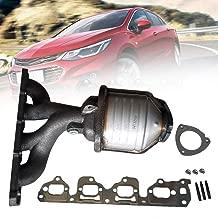 Qiilu Exhaust Catalytic Converter, Exhaust Manifold Catalytic Converter Fit for Chevy Malibu 2004-2008 Saturn Aura 2007-2008 Pontiac G6 2006-2008 (327-02104, 327-02199, 12618544, 12564557)
