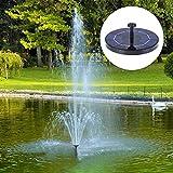 Libelyef - Fuente solar para pájaros (funciona con energía solar, para decoración de jardín, estanque pequeño, piscina, pecera, acuario