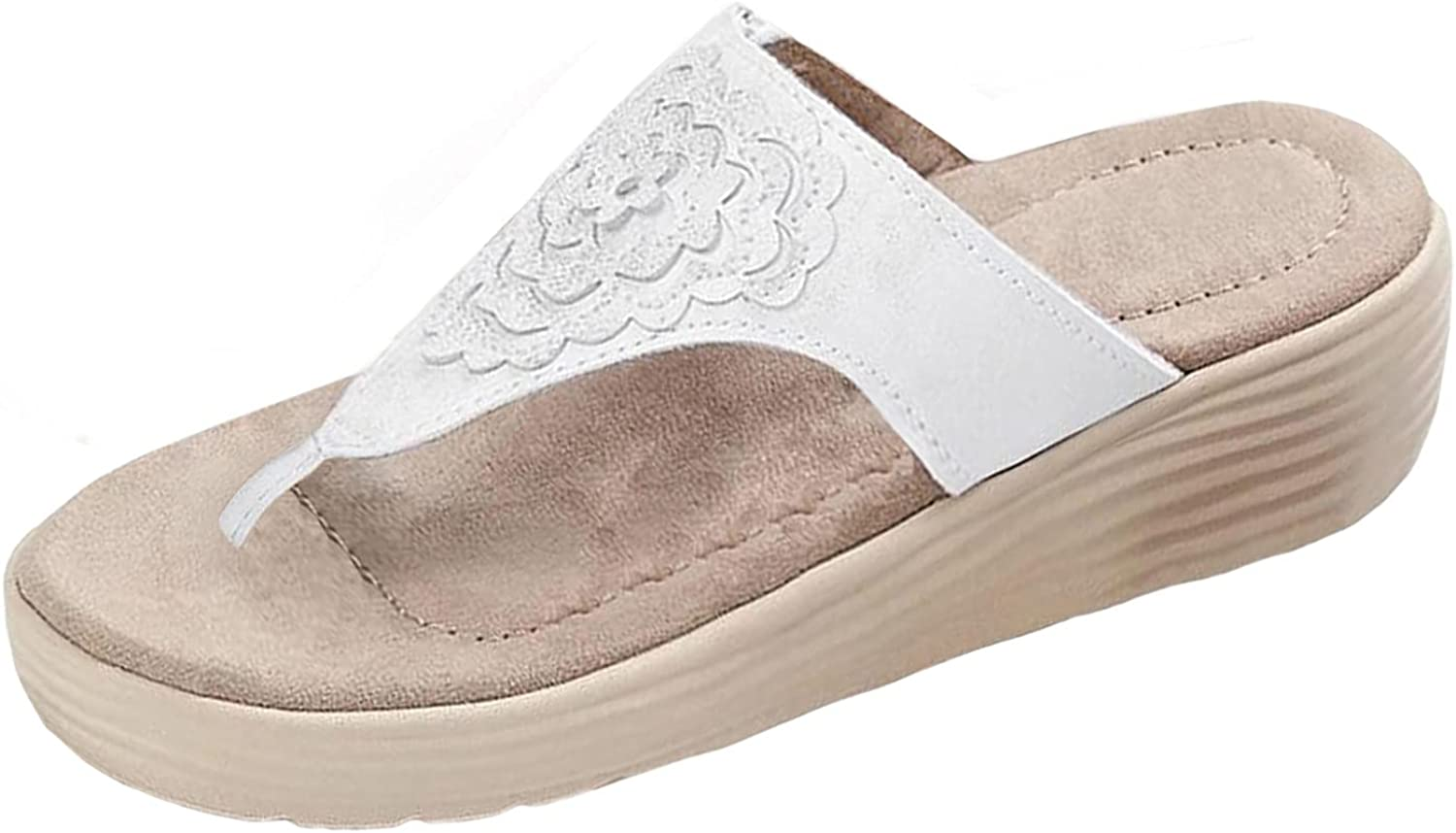 Wedge Sandals for Women with Arch Support Summer Flip Flops Wome