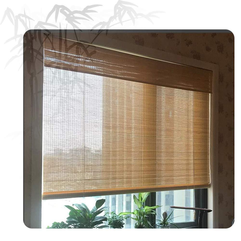 Estores Enrollable QIANDA Persianas de Bambu, Rodillo Manual Ventana Sombra 50% Dom Térmico Filtración for Gazebo, Pérgola, Balcón, Cubierta (Color : A, Size : 85x90cm): Amazon.es: Hogar