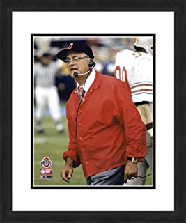 """NCAA Ohio State Buckeyes Woody Hayes, Beautifully Framed and Double Matted, 18"""" x 22"""" Sports Photograph"""