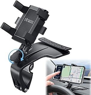 پایه نگهدارنده تلفن اتومبیل ، دارنده نگهدارنده تلفن تلفن میندسکی با قابلیت ارتقا 1200 1200 درجه ، دارنده تلفن همراه کلیپ فنر قابل تنظیم داشبورد ، برای iPhone12 11 pro / 11 pro max / XS / XR / X / 8/7 ، Galaxy ، Moto و موارد دیگر