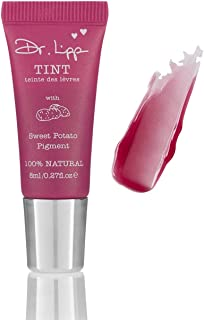 Natural Lanolin Tinted Lip Balm - Moisturizing Gloss For Dry Chapped Lips. Long Lasting Stains From Organic Edible Plant Pigments. Flavor, Fragrance, GMO, Paraben & Cruelty-Free. (Sweet Potato 8ml)