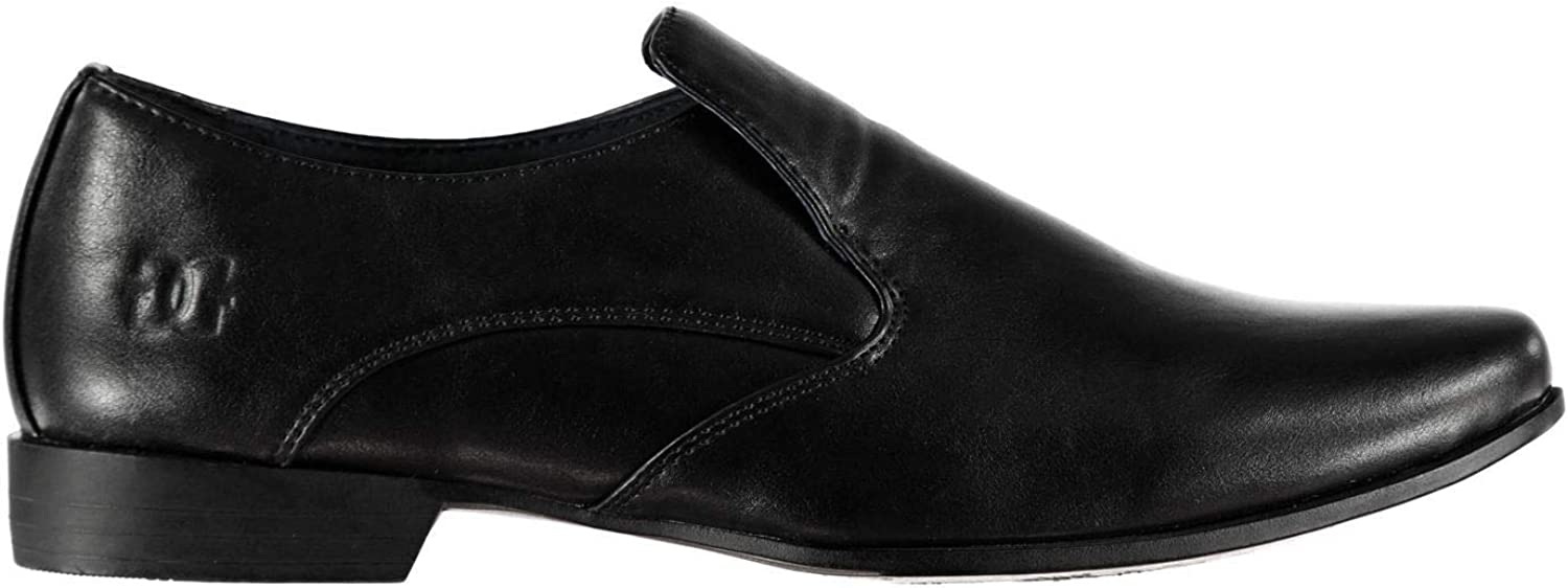 Giorgio Langley Slip On shoes Mens Black Loafers Flats Formal Footwear