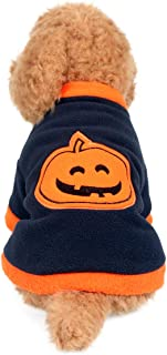 Yunison Dog Cat Pumpkin Costume for Halloween T-Shirts Pet Clothes Puppy Outfits