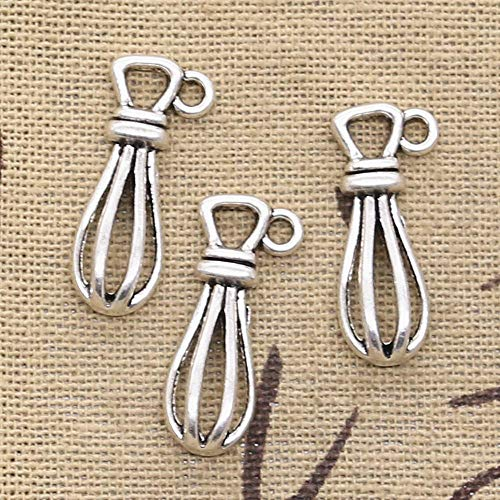 WANM 10Pcs Charms Eggbeater Whisk 13X10Mm Antique Making Pendant Fit Vintage Tibetan Silver Color Diy Handmade Jewelry Alloy Pendant