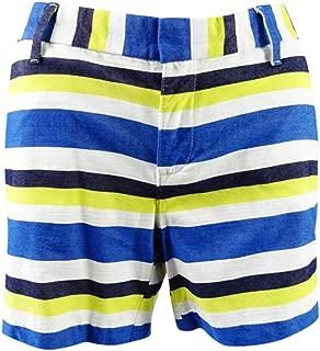 Womens Harbor Island Striped High Rise Casual Shorts