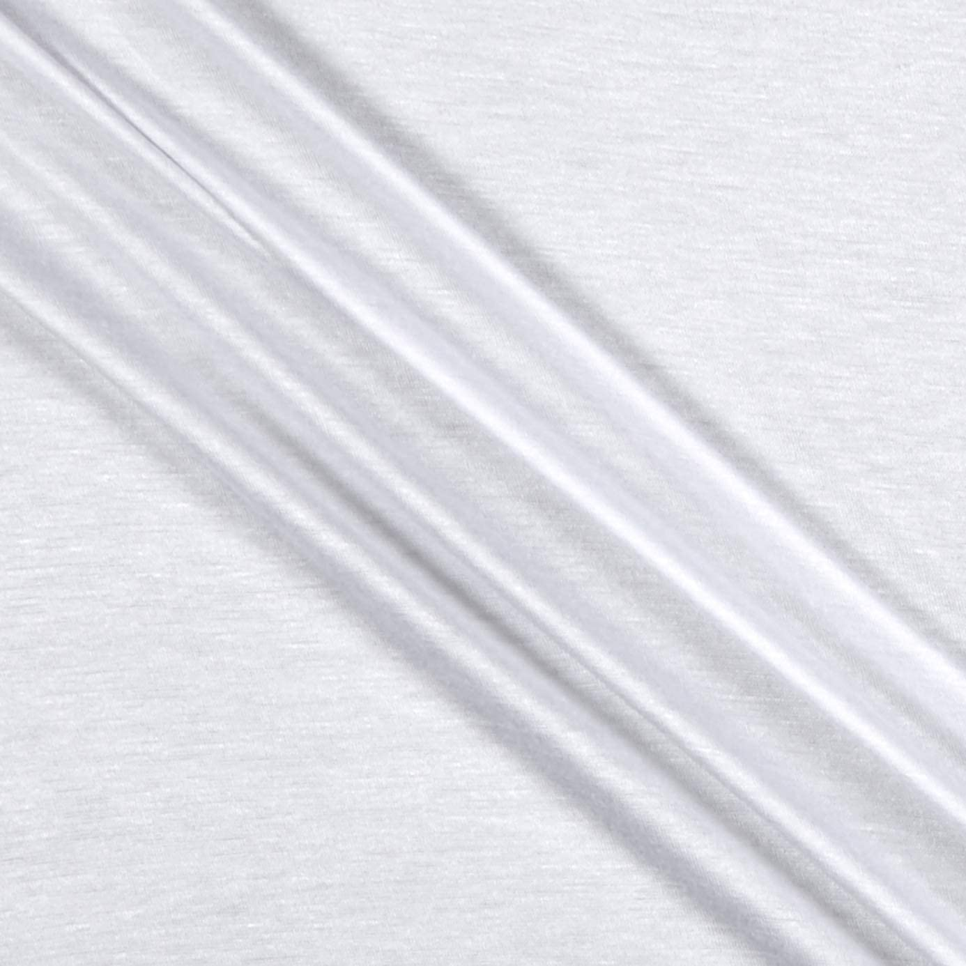 Rayon Stretch Jersey Knit Solid White, Fabric by the Yard