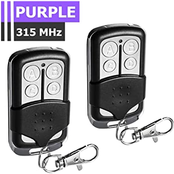 Exceltek 371lm Compatible Garage Door Remote Control With Purple Learn Button Liftmaster Chamberlain Craftsman 370lm 139 53753 139 53930 139 18191 1 Pack 371lm Amazon Com