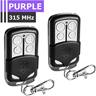 2 Pack Replacement Remote for LiftMaster 370LM 371LM 372LM 373LM, Chamberlain 950D 953D 956D, Craftsman 139.53753, Compatible with 315MHz Garage Door Openers with Purple Learn Button