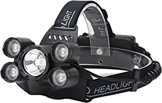5LEDs USB Rechargeable Outdoor Long-range Camping Night Fishing Headlight High Quality