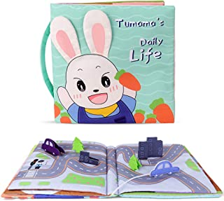TUMAMA Baby Toy 3D Book ,Cloth Books with Crinkle Paper ,Soft Activity Book for Life Education, Learning Skill, Sensory and Developmental, Toys for 6 9 12 Months and up, Boys, Girls, Toddlers