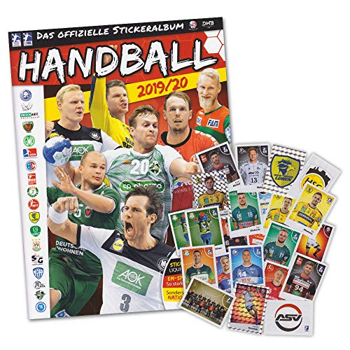Sammelsticker Handball Saison 2019 2020 Starter Album + 50 Sticker gemischt (ohne Doppelte)