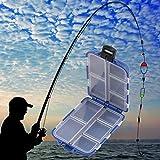 Generic Caliente venta 10compartimentos caja de almacenamiento pesca señuelo cuchara gancho cebo Tackle Caso Caja Pesca Accesorios Herramientas