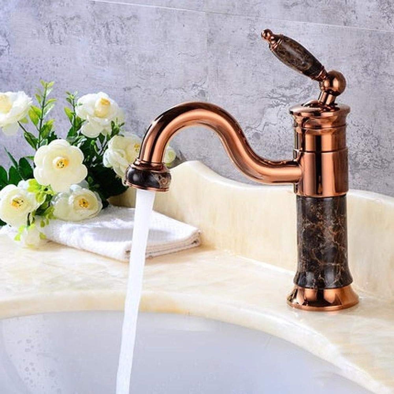 Luziang Hahn-Bassin-Hahn-Bassin-Hahn-Kupfer Waschbecken Wasserhahn- Sicherer für in Bad WC Küche
