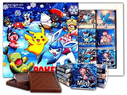 DA CHOCOLATE Candy Souvenir POKEMON BOX Chocolate Gift Set 13x13cm 1 box (Christmas)