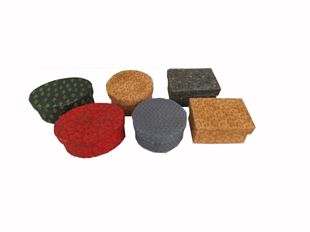 Craft Outlet 6-Piece Papier Mache Box Set