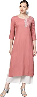 Varanga Rose Gold with Thread Embroidery and Sequence Work Straight Kurta