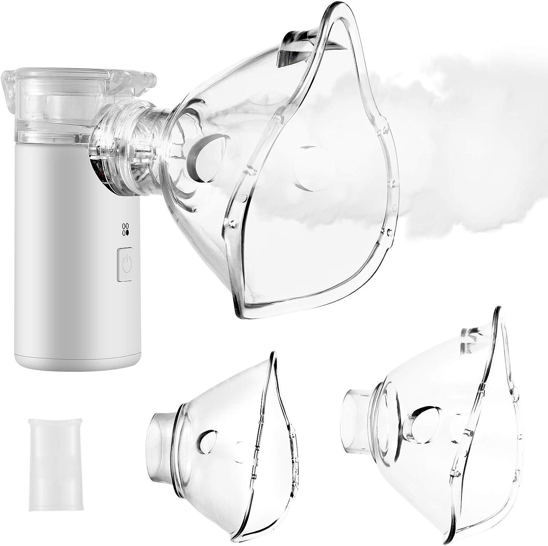 Nebulizador Portátil Inhalador, inhalador portátil para niños y adultos, partículas atomizadas eficaces para enfermedades respiratorias