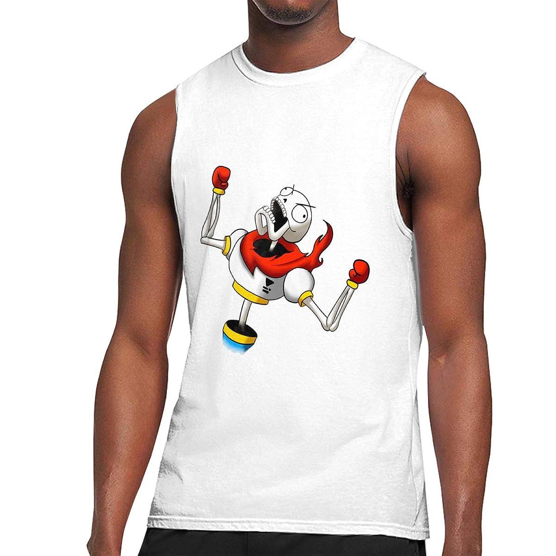 ノースリーブ シャツ Tシャツ メンズUndertale アンダーテイル タンクトップ スポーツ トレーニングウェア インナーシャツ 筋トレ クルーネック 吸汗 速乾 大きなサイズ M-3XL